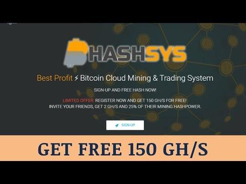 HashSys.io отзывы 2019, mmgp, обзор, Bitcoin Cloud Mining, get Free 150 Gh/s