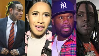Cardi B, 50 Cent, Chief Keef, Meek Mill, Snoop Dogg And More React To 6IX9INE Snitching In Court