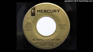 Margie Singleton & Faron Young - No Thanks I Just Had One (Mercury 72237) [1964]