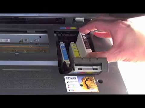 Epson DX7400 - Changing the cartridges