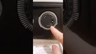 How to set timer on Baxi boiler