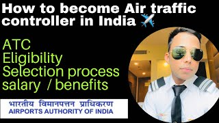 How to become Air Traffic controller ✈️ selection process, salary & training -Harsh