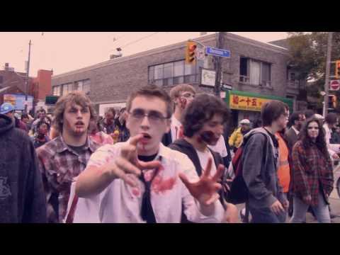 Slam Duncan Productions Presents - the 2009 Toronto Zombie Walk  - Music by Nefrektomy
