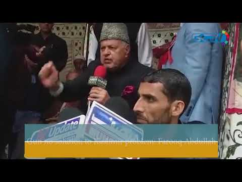 Gun no solution to Kashmir problem: Farooq Abdullah