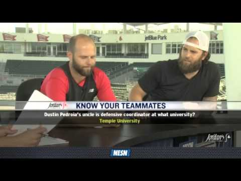 "Dustin Pedroia and Mike Napoli play ""Know Your Teammates"""