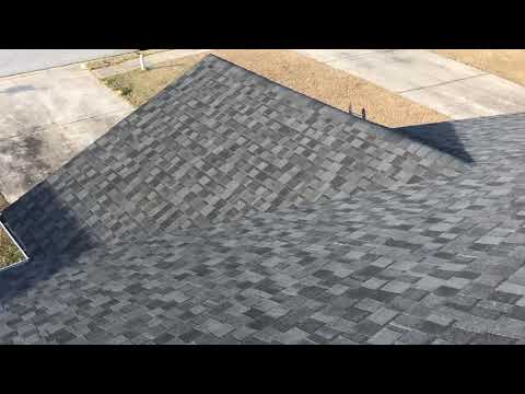 This roof had storm damage and the insurance company helped this homeowner out by getting them a new roof to help protect their biggest investment.