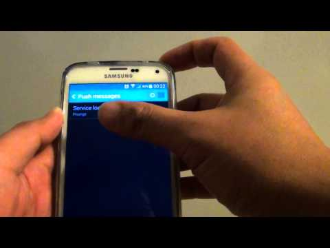 Samsung Galaxy S5: How to Enable/Disable Push Messages From Messages App