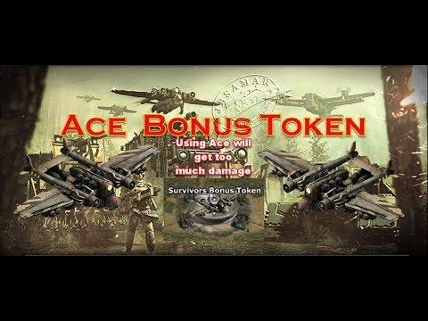 War Commander : Ace Bonus Token ( Using Single use unit Or Zombies)