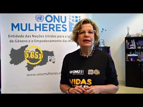 Recado da representante da ONU Mulheres Brasil sobre campanha Vidas Negras