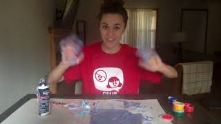Day 12 - Shaving Cream Painting!