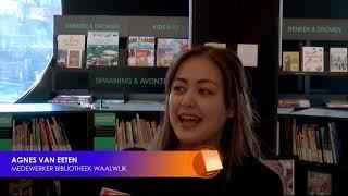 Kindercollege  bibliotheek met winnares Heel Holland Bakt