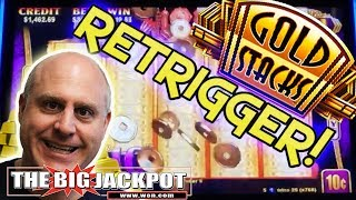 💰RETRIGGER HANDPAY! 💰2 Big Wins on Gold Stacks! 💸| The Big Jackpot