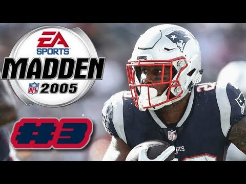 Madden NFL 2005 PS2 2019 New England Patriots Franchise Mode Ep.3 (EPIC COMEBACK VS DOLPHINS)