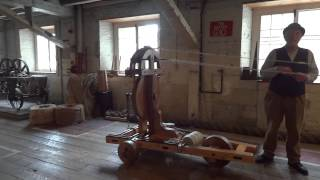 preview picture of video 'Chatham Historic Docks -Traditional Rope Making Demo part1'
