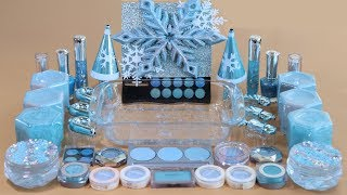 One Color Series Season 7 Mixing ICE BLUE Makeup,More Stuff & BLUE Slime Into Slime!