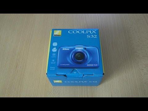 Digitalkamera Nikon Coolpix S32 ausgepackt und getestet (Unboxing / Test) 06.06.2014