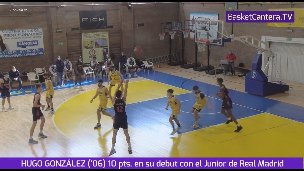 HUGO GONZÁLEZ ('06) 10 pts. en su debut con el Junior de Real Madrid #BasketCantera.TV