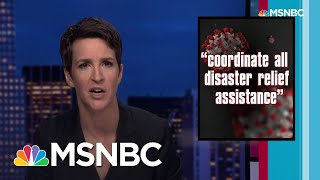 maddow to trump: you had one job. virus response needs competent leadership rachel maddow rachel maddow msnbc