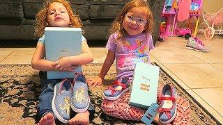 Unboxing TOMS Disney Princess Shoes Half Off!