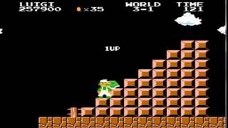 Super Mario Brothers Infinite life NES original SMB 1 infinity