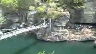 犬と旅行ペットと観光福島県「塔のへつり」