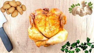 Рецепт Курицы с Картошкой и Грибами в Духовке