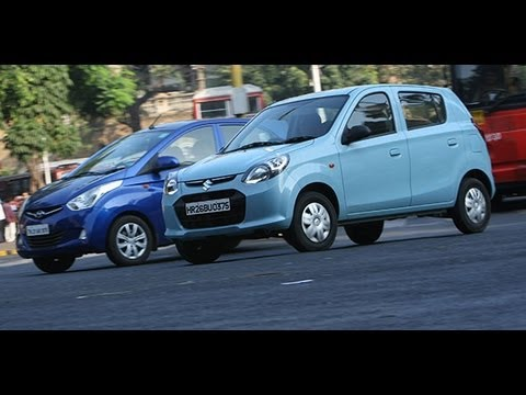 Comparo - 2012 Maruti Alto 800 vs Hyundai Eon in India - Maruti Videos