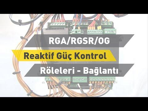 ENTES RGA/RGSR/OG Reaktif Güç Kontrol Röleleri - Bağlantı