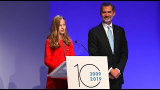 Premios Princesa de Girona. Leonor hablando en cuatro idiomas | Diez Minutos