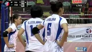 Thailand - Puerto Rico [Set 3] Girls' U18 World Championship 29-07-2013