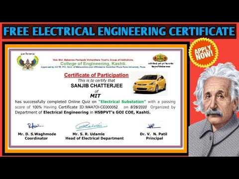 Free Electrical Engineering Certificate | Free Online Course