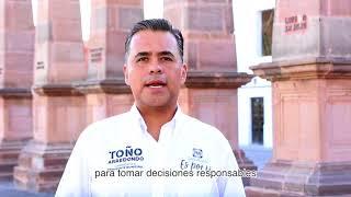 Toño Arredondo hace un llamado a la paz y a la unidad