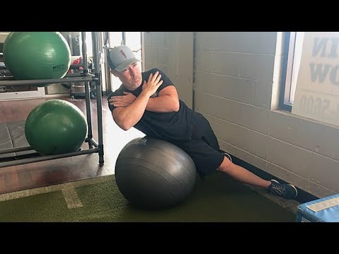 Stability Ball Side Crunch
