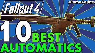 Top 10 Best Automatic/Commando Guns and Weapons in Fallout 4 (Redux, DLC, Survival) #PumaCounts