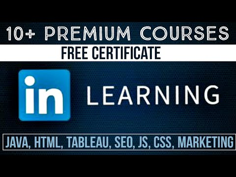 Linkedin Free Online Courses With Certificate   Lifetime Access ...