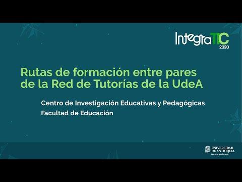 Rutas de formación entre pares de la Red de Tutorías de la UdeA