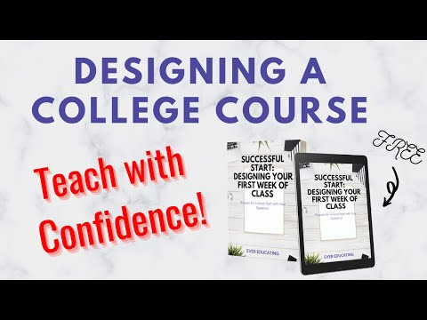 TIPS FOR DESIGNING A COLLEGE COURSE FROM SCRATCH ...
