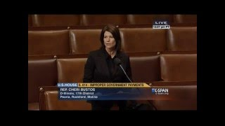 Rep Bustos Speaks in Support of Federal Improper Payments Coordination Act