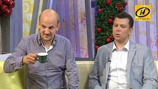 Александр Чекан и Максим Метелица в студии Телеканала ОНТ