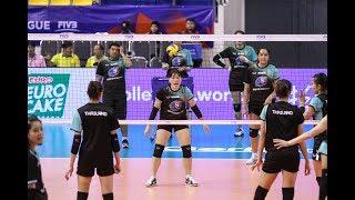 นักวอลเลย์บอลหญิงทีมชาติไทย ซ้อม + สัมภาษณ์ ก่อนลงแข่งวอลเลย์บอลเนชั่นส์ลีก 2018 พบ เกาหลีใต้