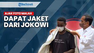 Momen Jokowi Berikan Jaketnya ke Pemuda Sorong yang Mengajak Foto Bersama
