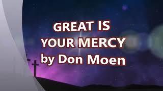 Great Is Your Mercy - Don Moen