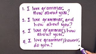 How to Avoid a Run-On Sentence | Grammar Lessons