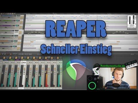Reaper DAW Basics - Ein schneller Einstieg 🎹 Reaper Tutorial 1/5 (deutsch)