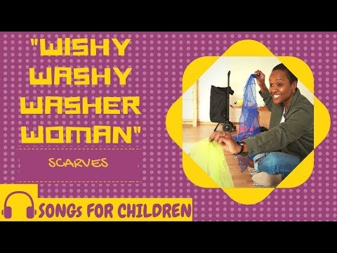 Screenshot of video: Wishy Washer Woman