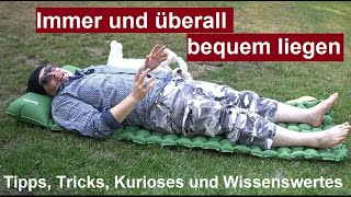 ✅Camping Isomatte DEEPLEE ultraleichte Schlafmatte für Outdoor/Bushcraft Luftmatratze Review deutsch
