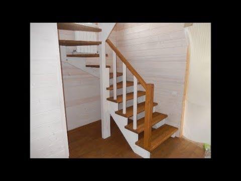 Изготовление лестницы на европейский манер /ступенька48