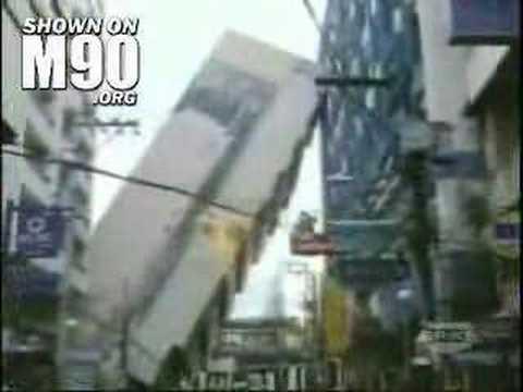 日本大樓意外倒下瞬間