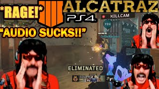 DrDisrespect RAGES While Taking REVENGE On NEW COD Blackout Map Alcatraz! + PS4 ROAST!