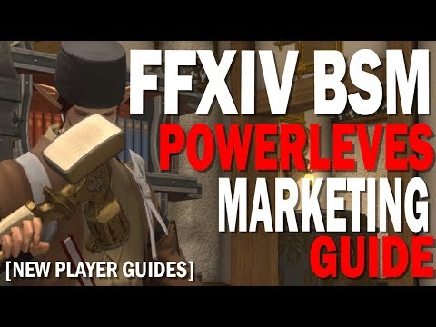 FFXIV Blacksmith Power Leveling and Marketing Guide | Getting Started Crafting